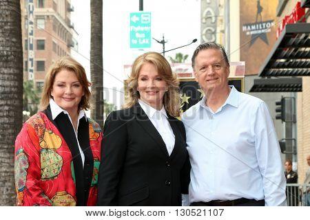 LOS ANGELES - MAY 19:  Andrea Hall Gengler, Deidre Hall, Bill Hall at the Deidre Hall Hollywood Walk of Fame Ceremony at Hollywood Blvd. on May 19, 2016 in Los Angeles, CA