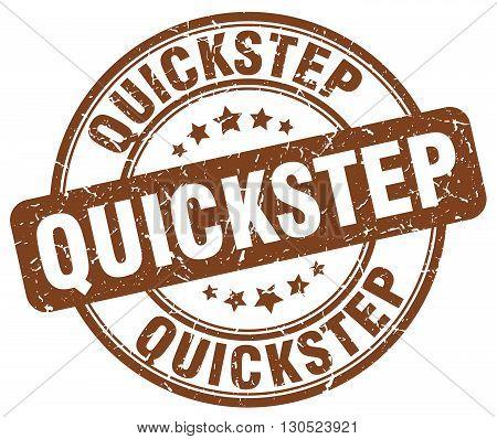 quickstep brown grunge round vintage rubber stamp