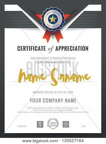 Modern certificate triangle shape background frame design template