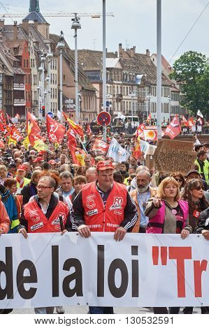 People Protesting Against Labor Law