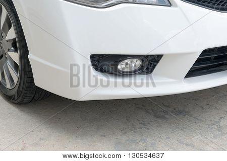 Closeup of car fog light, fog, lighting, light, car, xenon,