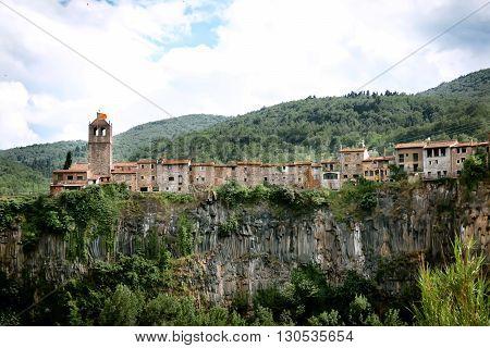Ancient Spanish village Castellfollit De La Roca