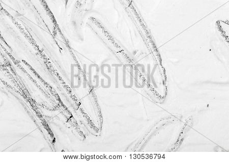 Closeup view of an original drawing. graphite pencil on acrylic paint. Hand painted abstract grunge background texture. Fragment of artwork, modern art, contemporary art. Mixed media. Avantgarde art.