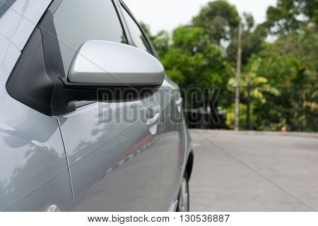 wing mirror of car. car, mirror, drive,