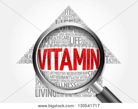 Vitamin Arrow Word Cloud