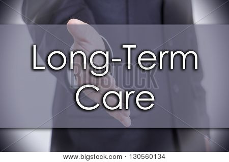 Long-term Care - Business Concept With Text
