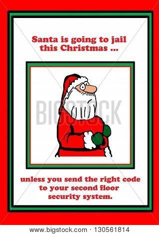 Christmas cartoon that Santa Claus may go to jail.