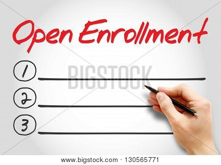Open Enrollment Blank List