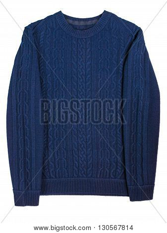 casual men's sweater isolated on a white background