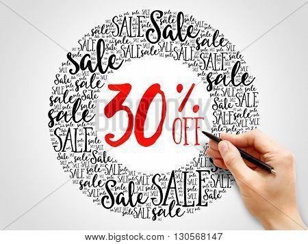 30% Off Sale Words Cloud