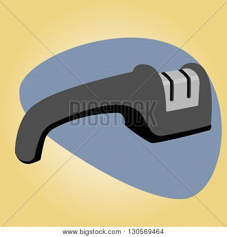 Single knife sharpener icon. Vector colorful illustration