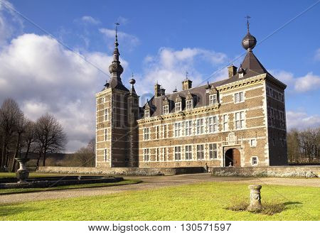 Eijsden Castle between the villages Laag-Caestert and Eijsden in the Dutch province Limburg