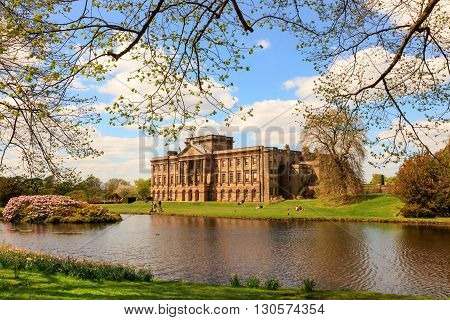 STOCKPORT, ENGLAND - MAY 14: Lyme Hall historic English Stately Home and park in Cheshire, England on May 14, 2016.