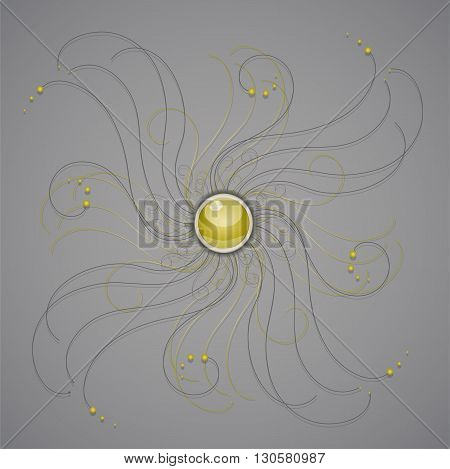 Vector illustration with ornament. Illustration 10 version