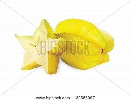 Carambola for your design, isolated carambola fruits