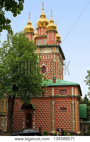 Sergiev Posad, Russia - May 23: This is the Gate Church of St. John the Baptist in Trinity-Sergius Laurus of Russian Orthodox Patriarchate May 23, 2013 in Sergiev Posad, Russia.