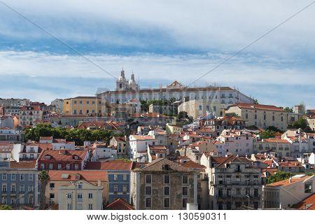 View of Lisbon old town, Alfama district, Lisbon Portugal.