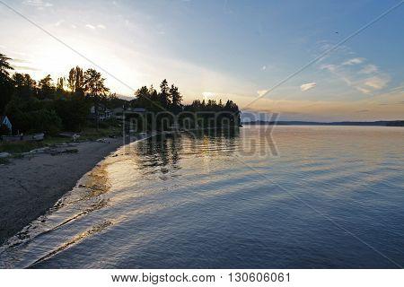 Beach on Puget Sound in Washington State