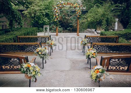 authentic wedding wonderful young couple with incredible scenery