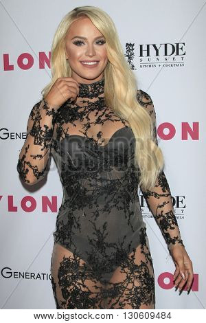 LOS ANGELES - MAY 12:  Gigi Gorgeous at the NYLON Young Hollywood May Issue Event at HYDE Sunset on May 12, 2016 in Los Angeles, CA