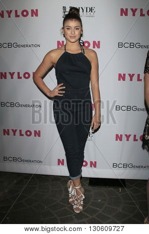 LOS ANGELES - MAY 12:  Kalani Hilliker at the NYLON Young Hollywood May Issue Event at HYDE Sunset on May 12, 2016 in Los Angeles, CA