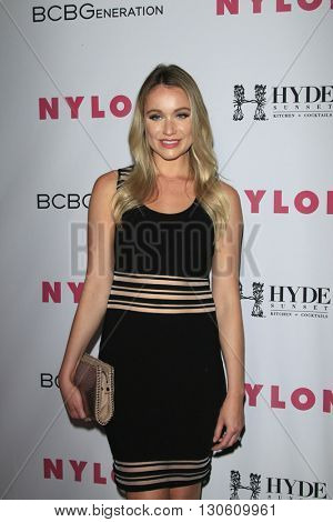 LOS ANGELES - MAY 12:  Katrina Bowden at the NYLON Young Hollywood May Issue Event at HYDE Sunset on May 12, 2016 in Los Angeles, CA