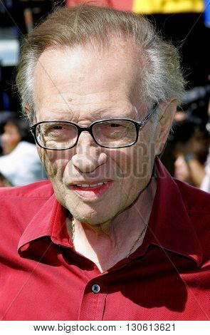 Larry King at the Los Angeles premiere of 'Shrek 3' held at the Mann Village Theater in Westwood, USA on May 6, 2007.