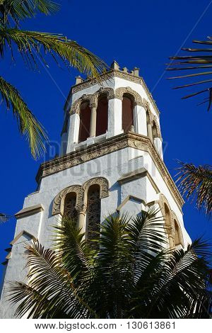 Our Lady of Sorrows Catholic church has been a historic landmark in Santa Barbara, California since 1929.