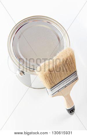 Paint Bucker And Brush