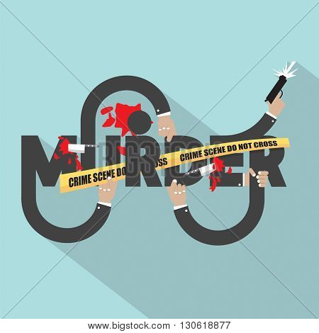 Murder Typography Design Vector Illustration. EPS 10