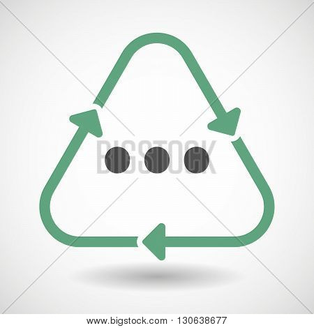 Line Art Recycle Sign Icon With  An Ellipsis Orthographic Sign