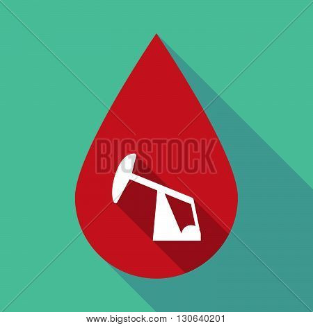 Long Shadow Blood Drop With A Horsehead Pump