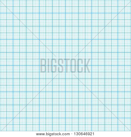 Blue millimeter paper vector image seamless background