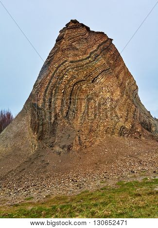 Fur formation marine sediment made of diatoms and clay minerals Palaeocene-Eocene Fur Island Denmark poster