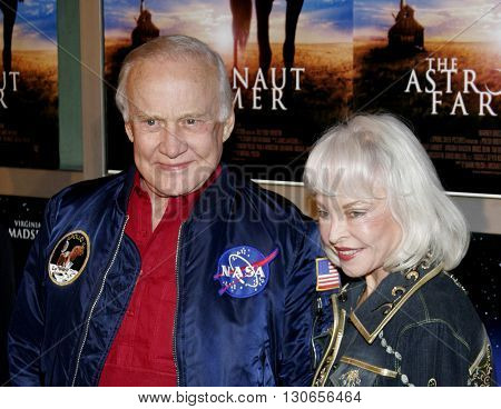 Buzz Aldrin and wife Lois at the Los Angeles premiere of 'The Astronaut Farmer' held at the Cinerama Dome in Hollywood, USA on February 20, 2007.