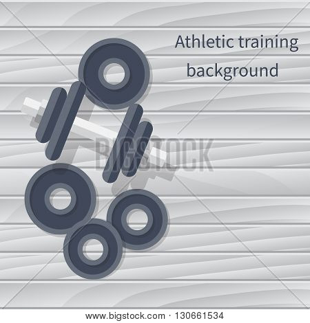 Dumbbell On Floor, Vector