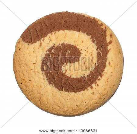 Isolated round cookie