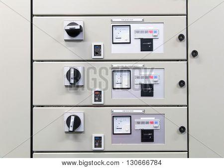 Electrical panel board motors control, remote control motor.