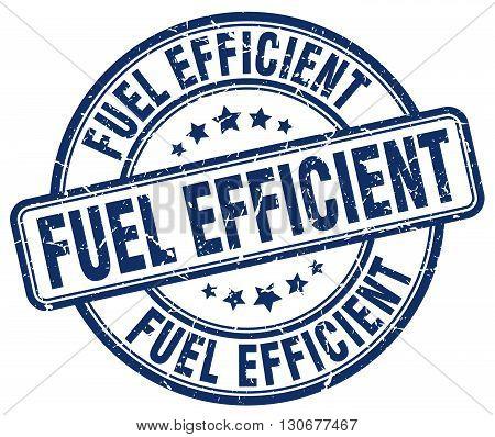 fuel efficient blue grunge round vintage rubber stamp