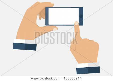 Hand Holding Smartphone