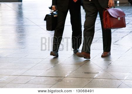 Fast Paced Business World With Blurred Motion.