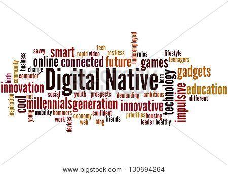Digital Native, Word Cloud Concept 6