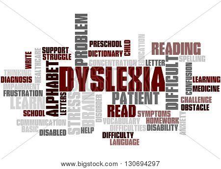 Dyslexia, Word Cloud Concept