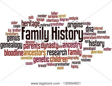 Family History, Word Cloud Concept 5