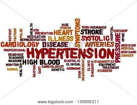 Hypertension, Word Cloud Concept 8