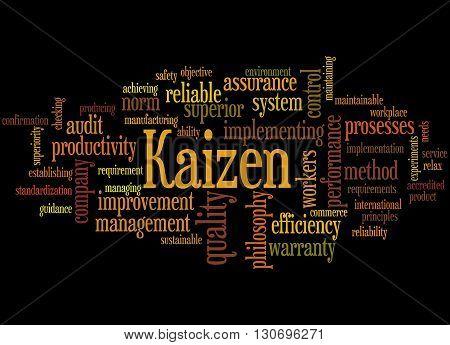 Kaizen - Continuous Improvement Process, Word Cloud Concept 9
