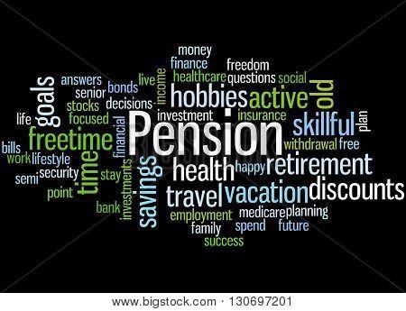 Pension, Word Cloud Concept 4