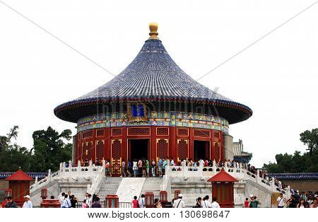 Beijing. China. - August 20, 2009 - The Temple of Heaven. Hall Firmament in August 20, 2009 in Beijing. China.