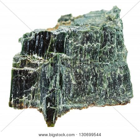 Chrysotile (serpentine Asbestos) Isolated On White