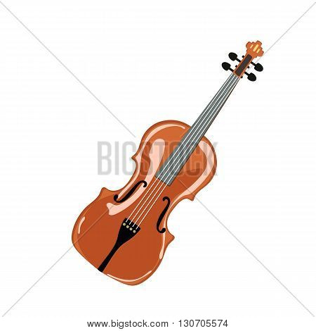 Classic violin. isolated on white. Vector illustration.
